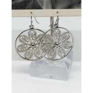 Anthropologie Silver Drop Earrings